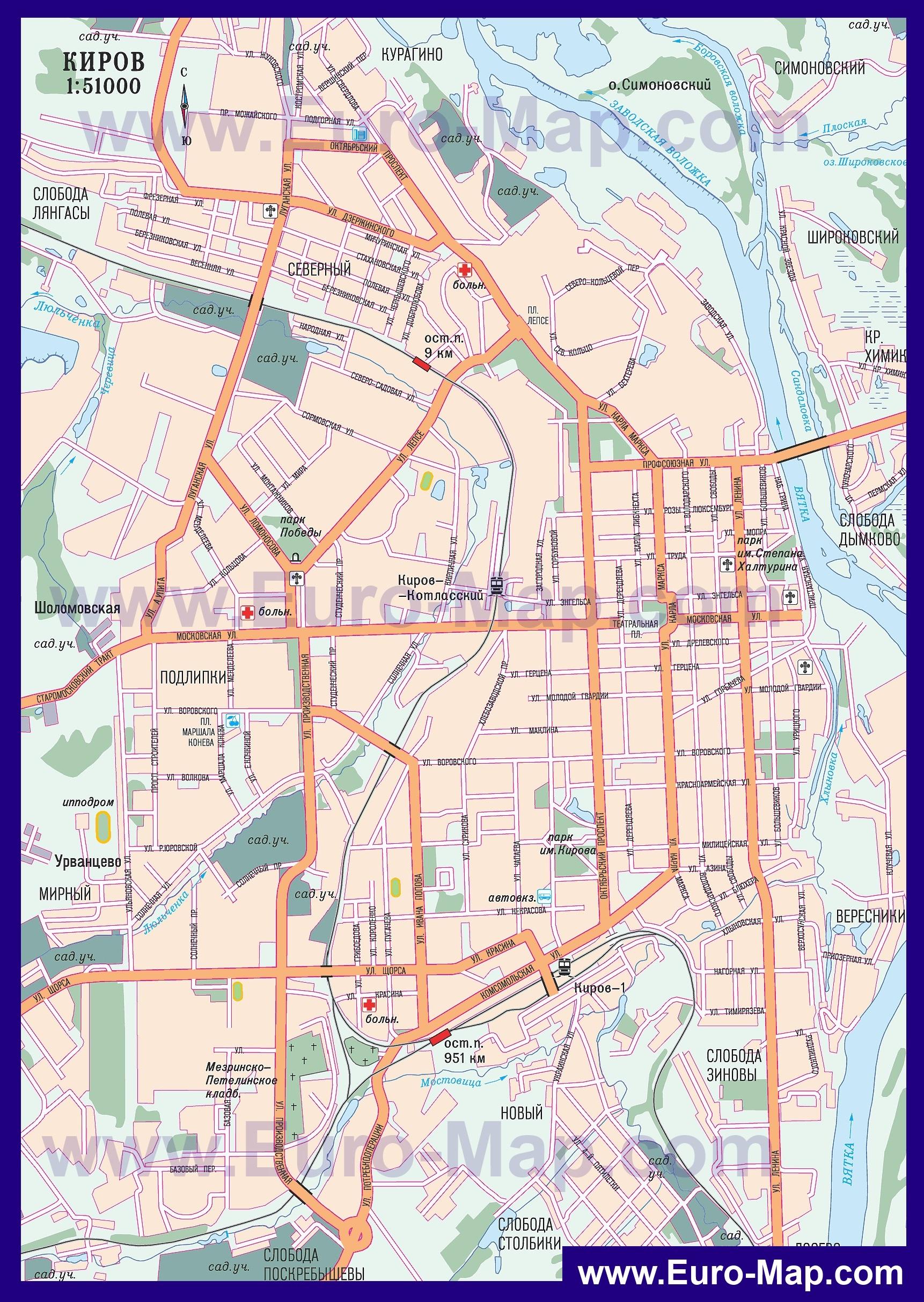 Карты Уфы | Подробная карта города Уфа с улицами и ...