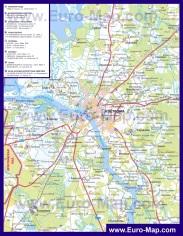 Автомобильная карта дорог Костромы