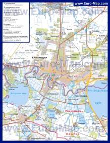Автомобильная карта дорог Краснодара