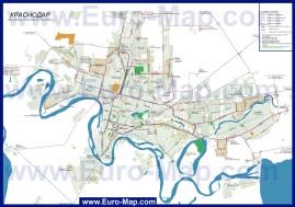 Карта маршрутов транспорта Краснодара