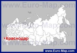 Краснодар на карте России