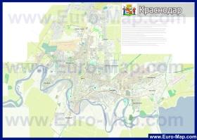 Подробная карта города Краснодар