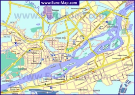 Автомобильная карта дорог Красноярска