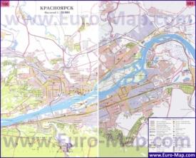 Карта Красноярска с окрестностями