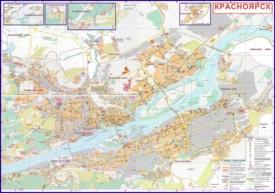 Подробная карта города Красноярск