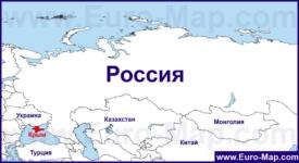 Крым на карте России