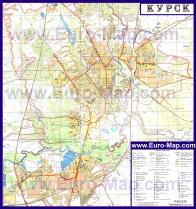 Автомобильная карта дорог Курска