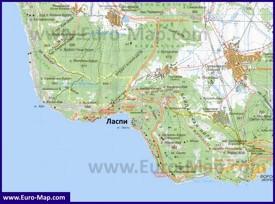 Карта Ласпи с окрестностями