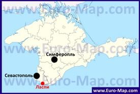 Ласпи на карте Крыма