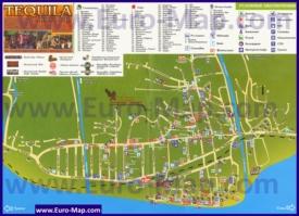 Подробная туристическая карта поселка Лазаревское с гостиницами