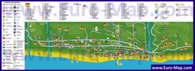 Туристическая карта Лазаревского с отелями, ресторанами, барами и достопримечательностями