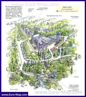 Карта-схема Ливадийского дворца