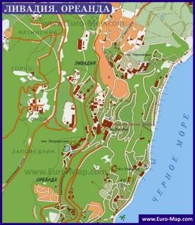 Туристическая карта Ливадии