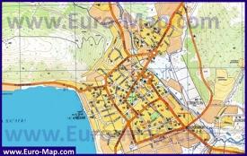 Туристическая карта Магадана