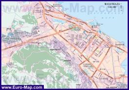 Автомобильная карта дорог Махачкалы