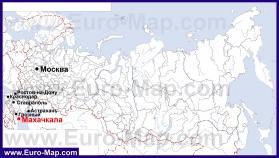 Махачкала на карте России