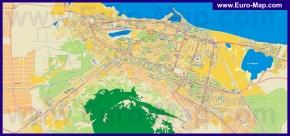 Подробная карта города Махачкала