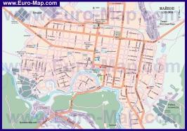 Автомобильная карта дорог Майкопа