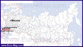 Майкоп на карте России