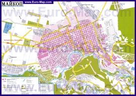 Подробная карта города Майкоп