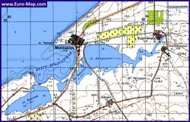 Карта Межводного с окрестностями