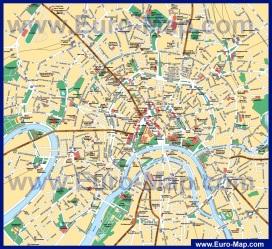 Карта центра города Москва