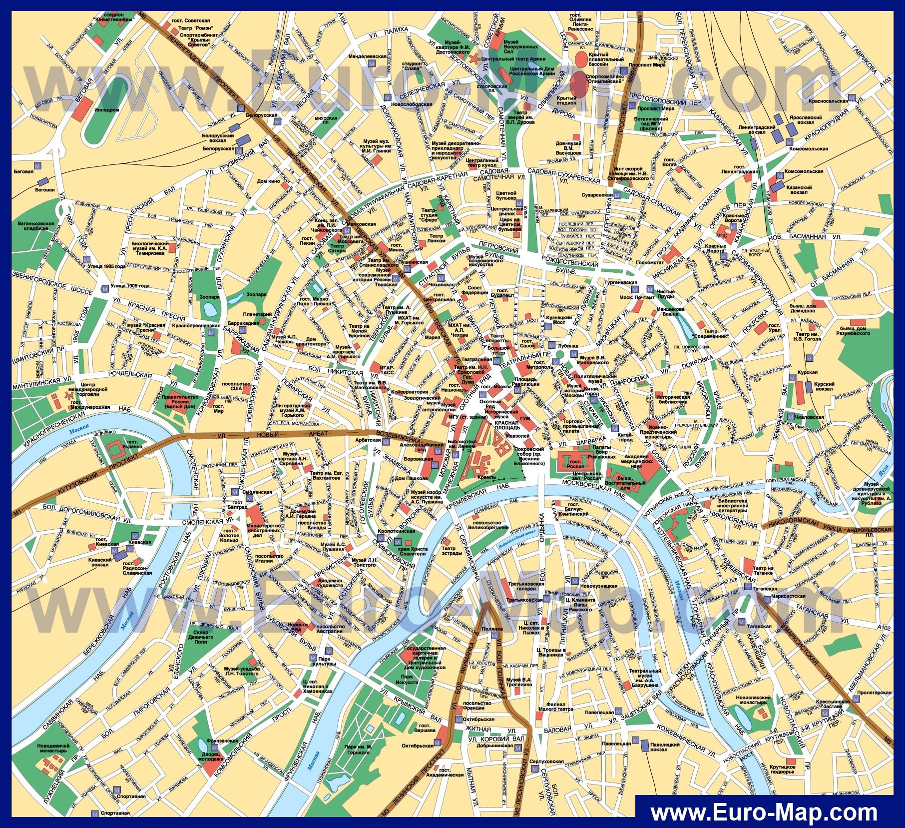 Москва Карта Подробная
