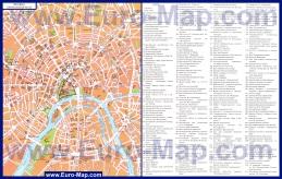 Карта центра Москвы с достопримечательностями