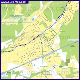 Карта маршрутов транспорта Апрелевки