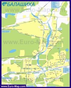 Карта маршрутов транспорта Балашихи