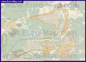 Подробная карта города Балашиха