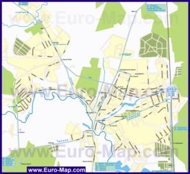Карта маршрутов транспорта Чехова