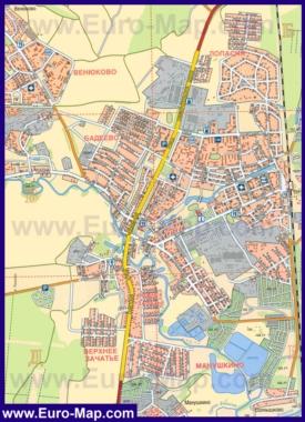 Подробная карта города Чехов