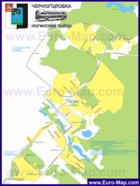 Карта маршрутов транспорта Черноголовкаа