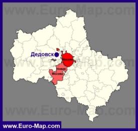 Дедовск на карте Московской области