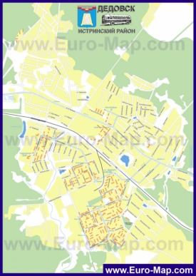 Карта маршрутов транспорта Дедовска