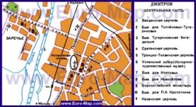 Туристическая карта Дмитрова с достопримечательностями
