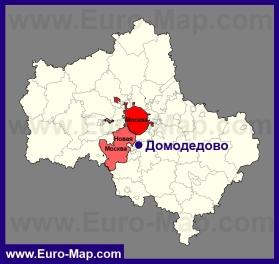 Домодедово на карте Московской области