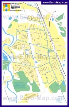 Карта маршрутов транспорта Домодедово