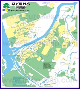 Карта маршрутов транспорта Дубны
