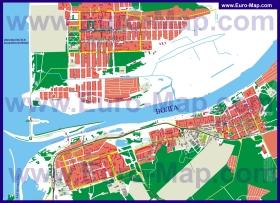 Подробная карта города Дубна