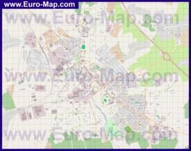 Подробная карта города Егорьевск