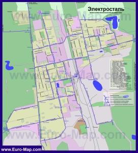 Карта маршрутов транспорта Электростали