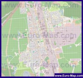 Подробная карта города Электросталь