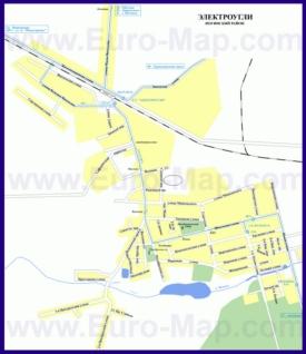 Карта маршрутов транспорта Электроуглей