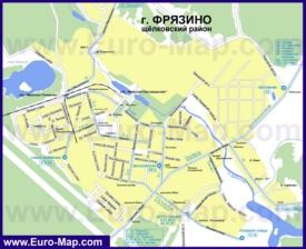 Карта маршрутов транспорта Фрязино
