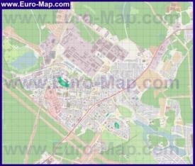 Подробная карта города Фрязино