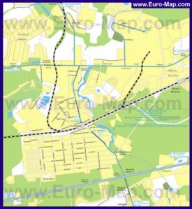 Карта маршрутов транспорта Голицыно