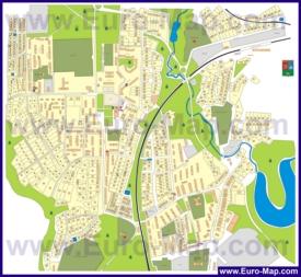 Подробная карта города Хотьково