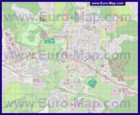 Подробная карта города Истра